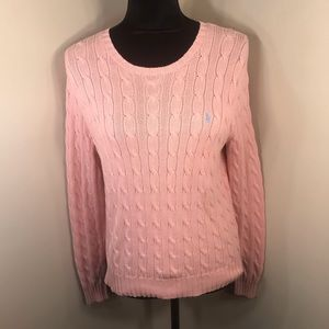 Ralph Lauren Cable Knit Pink  Sweater Size S